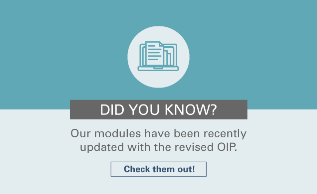 Our modules have been recently updated with the revised OIP