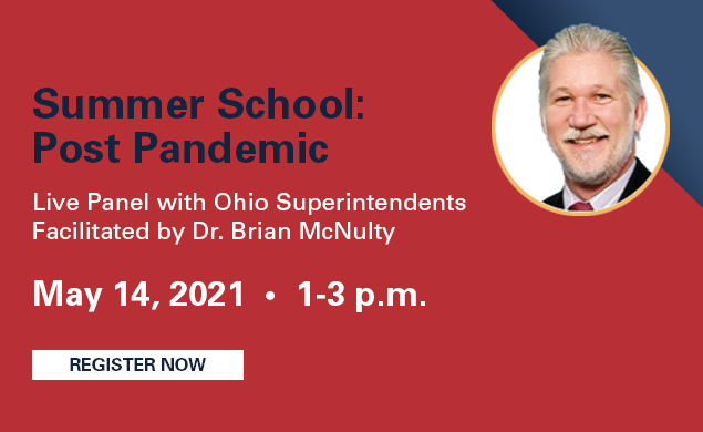 Summer School: Post Pandemic - Live webinar by Dr. Brian McNulty. May 14th, 2021. 1-3pm